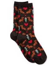 NEW Women's Dachshund & Milkshake Socks   Black  - $12.00