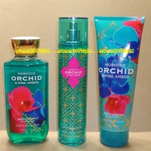 Morocco Orchid Pink Amber Bath Body Works Fragrance Mist Body Cream Show... - $36.00