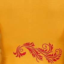 Ira Soleil yellow knitted viscose and chiffon peplum top - $49.99