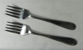 "Oneida FLIGHT RELIANCE Glossy Stainless Flatware USA 6-1/8"" 865 Salad Fork 2x - $7.37"