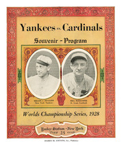1928 World Series Poster Cardinals vs Yankees - $9.99