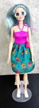 "Mattel 2015Barbie 11 1/2"" Doll - Blue Hair #K16 HF DYY99 Dress Sunglasse... - $8.59"