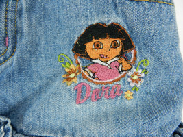 Nick Jr. Dora the Explorer Skort Skirt with Shorts Girls 5 Blue Denim Pi... - $19.79