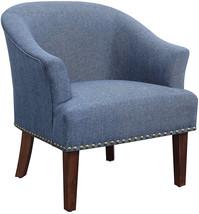 Ravenna Home Ryleigh Rounded Mid-Century Barrel  , 27.5'W,  Blue - $296.11