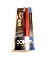 "Conair 1"" Flat Iron Double Ceramic Adjustable Heat Auto Off 410 F Extra ... - $24.70"