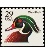 1991 29c Wood Duck, Booklet Single Scott 2484 Mint F/VF NH - $1.08