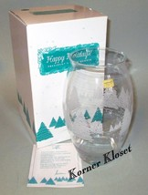 Happy Holidays Frosted Sleigh Ride Vase - Avon Presidents Club - 1998 - NIB - $31.88