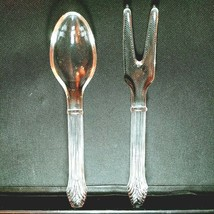 1 (One) IMPERIAL GLASS SERVING / SALAD FORK & SPOON SET - Excellent Cond... - $15.83