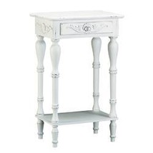 Distressed White Wood Accent Table - $113.96