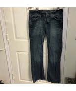 Lee Womens Heritage Bootcut Jeans Blue Whiskered Dark Wash Stretch Denim... - $12.34