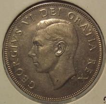KM #45 1950 Silver Canada 50 cent coin AU+ #0344 - $14.99