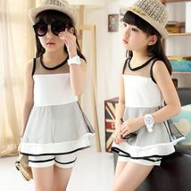 New Fashion Children's Clothing Net Veil T-Shirts Pants - $17.56+