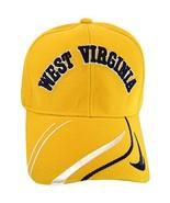 West Virginia Men's Striped Bill Adjustable Baseball Cap (Gold) - $11.95