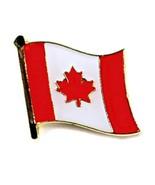 """Canadien Drapeau Épinglette 0.5 """" Canada Maple Leaf Étiquette Épingle à ... - $4.86"""