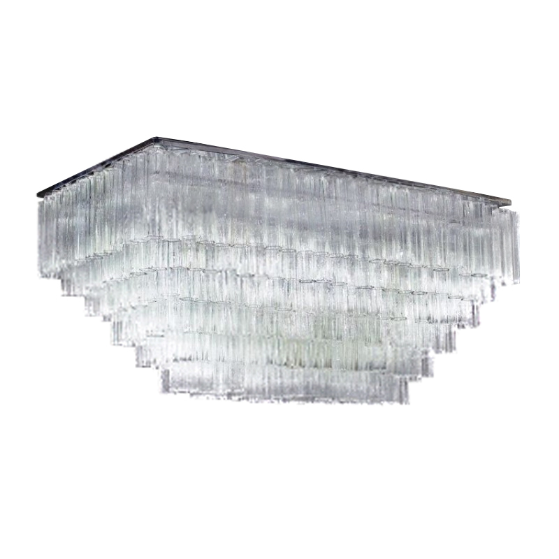 "Primary image for AM8080: Venini Tronchi Murano Glass Chandelier (3-6 Tiers) (24""-42"" L) $2,260+"