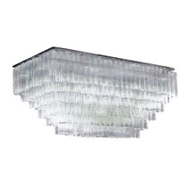 "AM8080: Venini Tronchi Murano Glass Chandelier (3-6 Tiers) (24""-42"" L) $2,260+ - $2,260.00"