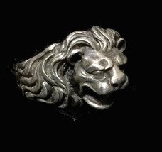Vintage Lion Sterling Silver Handmade BoHo Ring Size 6  Children Adults  - $75.00