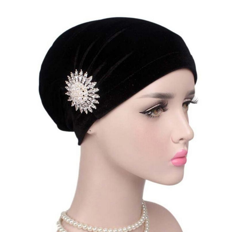 2017 Women Cancer Chemo Hat Beanie Scarf Turban Head Wrap Cap Headdresses  For Women Touca Inverno ... a3c85ddd00d