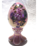 Fenton Glass Pink Rosalene Egg Hand Painted and Signed Limited Edition - €22,92 EUR