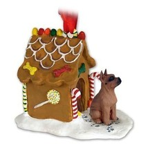 Conversation Concepts Boxer Tawny Ginger Bread House Ornament - $21.99