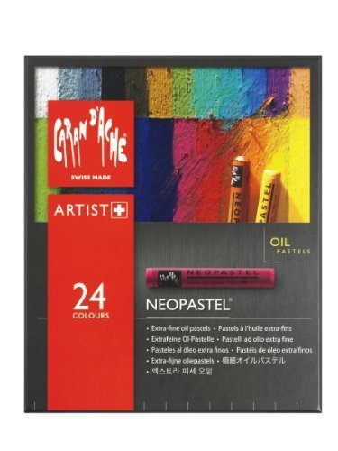 Caran D'ache Neopastel Artists Quality Colouring Oil Pastels Tin Set Of 24 #ida