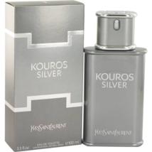 Yves Saint Laurent Kouros Silver 3.4 Oz Eau De Toilette Cologne Spray image 1