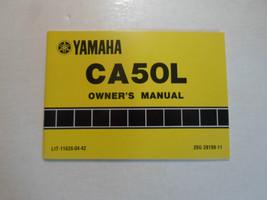 1983 Yamaha CA50L Manuel Du Propriétaire Usinage Oem Livre 83 Concessionnaire - $37.26
