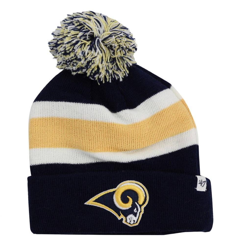 NEW FORTY SEVEN 47 WINTER NFL SAINT LOUIS RAMS STRIPED HAT CAP BEANIE ONE SIZE