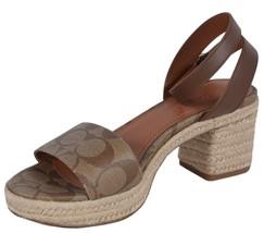 NEW Coach Women's $228 G5134 Piper Signature Espadrille Sandals Shoes 8 - $97.12
