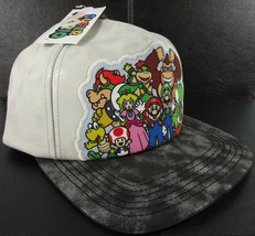Nintendo Mario Brothers Bros Faux Leather Snapback Flat Bill Cap Trucker... - $19.18