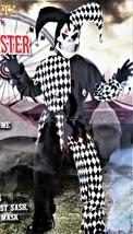 Halloween Costume Evil Jester Boys Size 6-8 Small Black & White Complete 5 Piece - $36.51