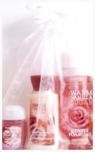 Bath & Body Works Warm Vanilla Sugar 3 Pc. Travel Lotion Pocketbac, Foam... - $19.43
