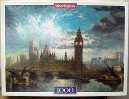 Waddingtons Jigsaw Puzzle Houses of Parliament Big Ben 1000 Piece Puzzle 1991 - $15.00
