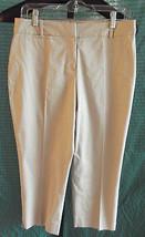 NWT Talbots Petites Khaki Capri Pants Size 8P Cotton - $37.62