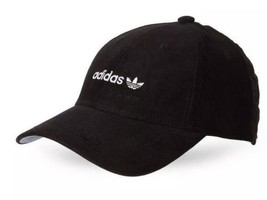 ADIDAS Black Corduroy Trefoil Snapback Hat Mens Adjustable Cap!! Retail ... - $19.11