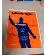 "Mr. Wonderful Sheet Music 1956 Vintage Paper 4 pages 9"" x 12"" - $10.89"