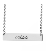 Custom Any Name Bar Necklace Christmas Mother Day Gift for Adele - $9.99+