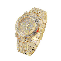 Men Hip Hop Iced out Pave Bling Simulated Diamond Rapper Watch - $27.35 CAD