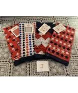 Four Assorted Brand New Patriotic Bandanas 22 Inch Red White Blue Biker ... - $12.99