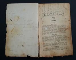 1912 antique CARBONDALE pa COOKBOOK w some handwritten recipes candy des... - $135.00