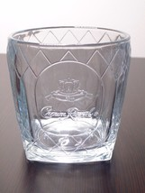 Crown Royal Whiskey Rocks Drink Glass With Textured Diamond Pattern - $11.99