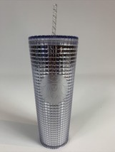 NEW Starbucks Silver Grid Disco Holiday 2020 Cold Cup Tumbler 24oz - $44.55