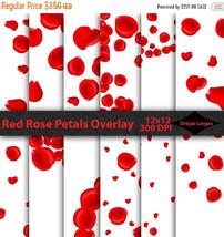 Red rose petals overlay clipart, red rose, rose petals, confetti, overla... - $3.15
