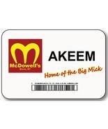 AKEEM COMING TO AMERICA MCDOWELLS BIG MICK NAME BADGE HALLOWEEN PROP PIN... - $14.84