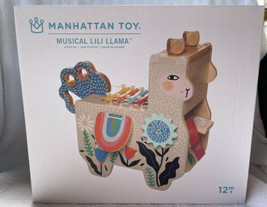 Lili Llama Musical Instrument Manhattan Toy New Baby Toddler Wooden Musi... - $69.99
