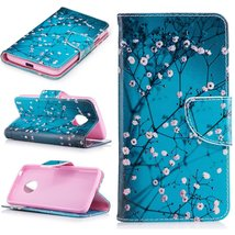 XYX Wallet Phone Case for Moto G5,[Plum Blossom][Kickstand] Painted Desi... - $9.88