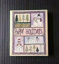 Stamps Happen Rubber Stamp Snowman Sampler Happy Holidays Christmas Snowmen - $14.01