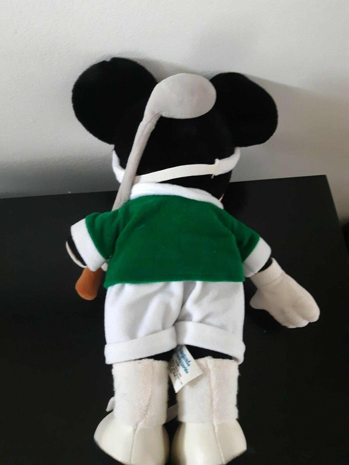 "Vintage Disney Parks Minnie Mouse Golf Plush Stuffed Animal 14"" Tall 80's Green"