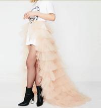 Black Detachable Tulle Skirt Tiered Open Tulle Skirt Wedding Photo Overskirt  image 4