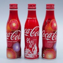 Nagoya & 2 Hanabi 2018 Coca Cola Aluminum Full bottle 3 250ml Japan Limited - $38.61